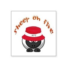 """Sheep On Fire Square Sticker 3"""" X 3"""""""