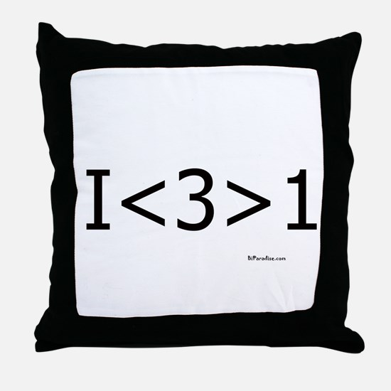 I love more than one Throw Pillow