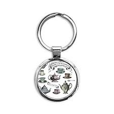 Vintage Tea Round Keychain
