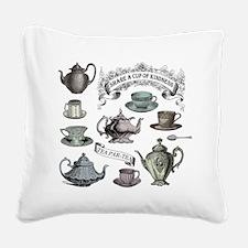 Vintage Tea Square Canvas Pillow