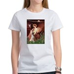 Seated Angel & Boxer Women's T-Shirt