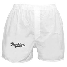 Brooklyn Cursive Grey Boxer Shorts