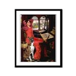 Lady & Boxer Framed Panel Print
