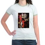 Lady & Boxer Jr. Ringer T-Shirt