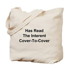 Has Read The Internet Cover-To-Cover Tote Bag