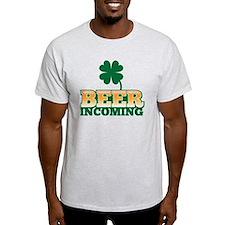 BEER INCOMING with an Irish green sh T-Shirt