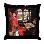 Lady & Boxer Throw Pillow