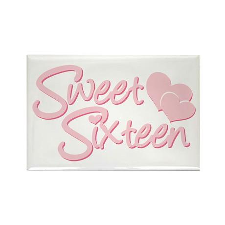 Sweet Sixteen Heart Rectangle Magnet