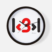 I love more than one (cute wi Wall Clock
