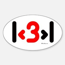 I love more than one (cute wi Oval Decal