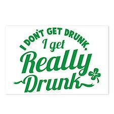 I don't get drunk I get R Postcards (Package of 8)