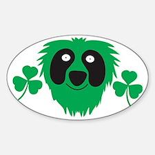 Green Irish monster with shamrocks Decal