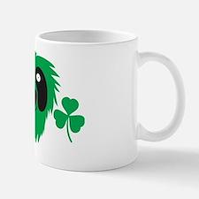 Green Irish monster with shamrocks Mug
