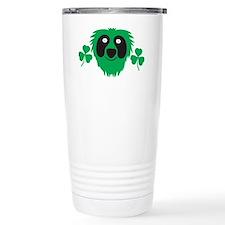 Green Irish monster wit Travel Mug
