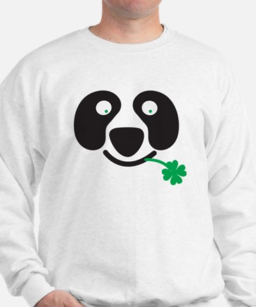 Green Irish St Patricks day Panda Sweatshirt
