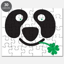 Green Irish St Patricks day Panda Puzzle