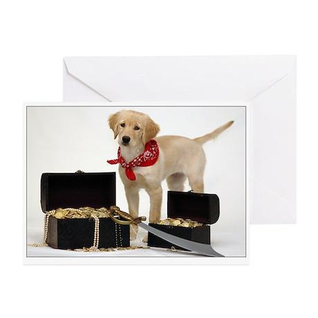 Golden Pirate Puppy Birthday SNAPshotz Photocards
