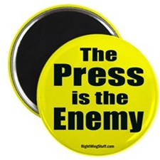 """The Press is the Enemy 2.25"""" Magnet (10 pack)"""