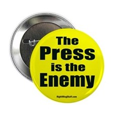 "The Press is the Enemy 2.25"" Button (10 pack)"