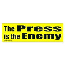The Press is the Enemy Bumper Bumper Sticker