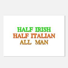 half Irish, half Italian Postcards (Package of 8)