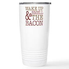 Wake Up Smell Bacon Travel Mug