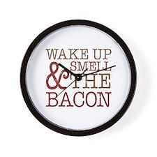 Wake Up Smell Bacon Wall Clock