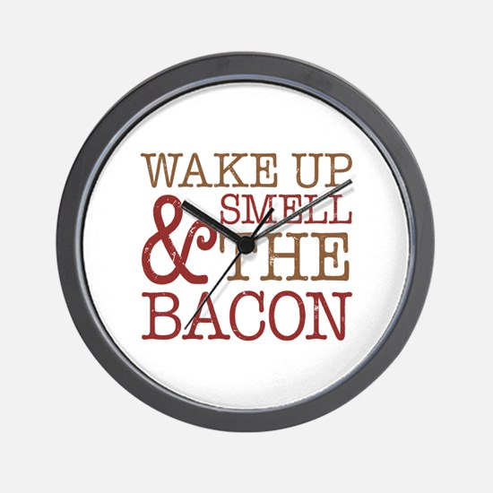 Wake Up Smell Bacon Wall Clock
