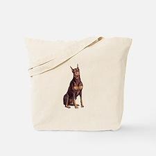 Red Doberman #1 Tote Bag