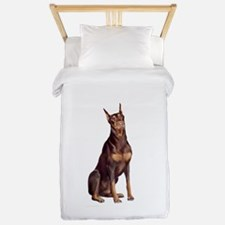 Red Doberman #1 Twin Duvet