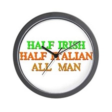half Irish, half Italian Wall Clock