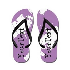 Purple Personalized Flip Flops