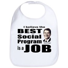 Reagan Quote - Best Social Program Job Bib
