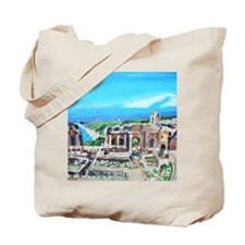 The Greek Theater  Ruins Tote Bag