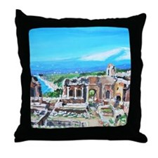 The Greek Theater  Ruins Throw Pillow