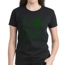 Green Shamrock Love Tee