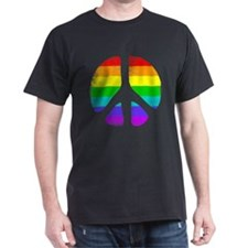 Gay Pride Rainbow Peace Sign T-Shirt