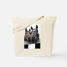 Kissing Horses Tote Bag