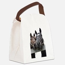 Kissing Horses Canvas Lunch Bag