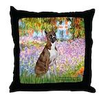 Garden & Boxer Throw Pillow