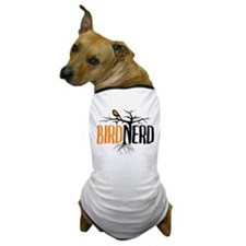 Bird Nerd (Black and Orange) Dog T-Shirt