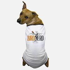 Bird Nerd (Black and Orange) Dog T-Shirt
