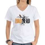 Bird nerd Womens V-Neck T-shirts