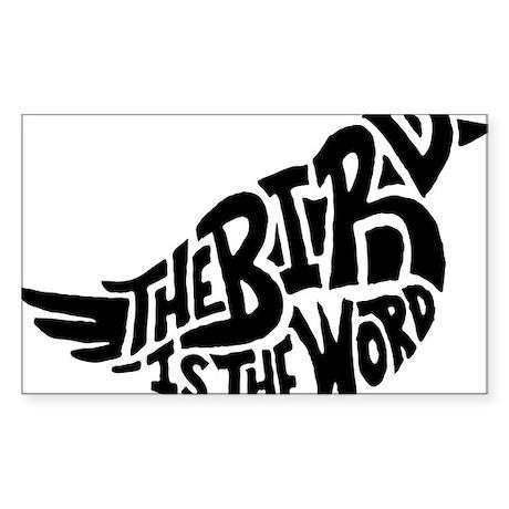 The Bird is the Word Sticker