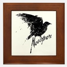 Nevermore Raven Framed Tile