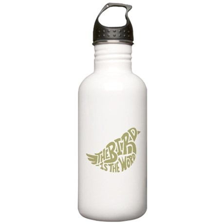 The Bird is the Word (light green) Water Bottle