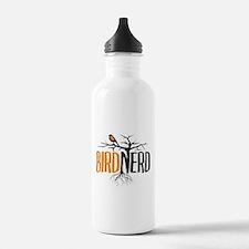 Bird Nerd (Black and Orange) Water Bottle