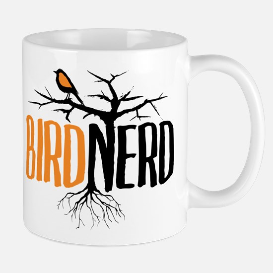 Bird Nerd (Black and Orange) Mug
