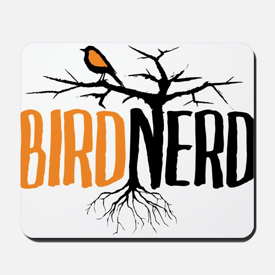 Bird Nerd (Black and Orange) Mousepad