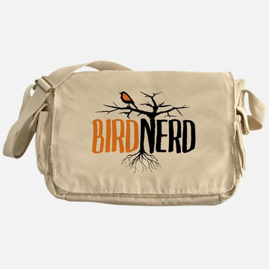 Bird Nerd (Black and Orange) Messenger Bag